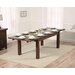 Home Etc Ritual Dark Extendable Dining Table and 6 Chairs