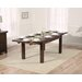 Home Etc Ritual Dark Extendable Dining Table and 8 Chairs