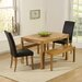 Home Etc Pria Cambridge Dining Table and 2 Chairs and 2 Benches