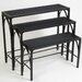 Home Etc Gothic 3 Tier Nesting Plant Stand Set