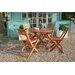 Andover Mills Newbury 5 Piece Dining Set in Brown