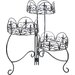 Home Etc Classic Finial 3 Tier Foldable Plant Stand