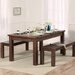 Home Etc Ritual Dark Extendable Dining Table and 2 Benches