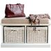 Home Etc Tanya Wood Storage Entryway Bench