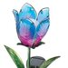 House Additions Solar-Powered Glass Tulip Garden Stake