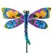 House Additions Floral Dragonfly Garden Stake