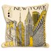 House Additions Cityscape Cushion Cover