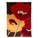 House Additions Infinite Mod Art Hand-Tufted Chocolate/Orange Area Rug