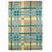 House Additions Infinite Teal/Green Area Rug