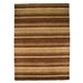 House Additions Barley Hand-Knotted Brown Area Rug
