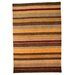 House Additions Grain Hand-Knotted Multi-Coloured Area Rug