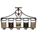 House Additions 5 Bottle Wall Mounted Wine Rack