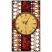 House Additions Metal Art Wall Clock
