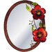 House Additions Metal Art Flower Mirror