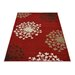 House Additions Sensation Red Area Rug