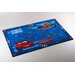House Additions Fairytale Blue/Red Area Rug