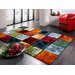 House Additions Colourful Area Rug