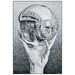 House Additions 'Hand with Globe' by Escher  Graphic Art Plaque