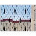 House Additions 'Golconde' by Magritte  Graphic Art Plaque