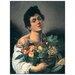 """House Additions """"Ragazzo Con Cesto Di Frutta"""" by Caravaggio Art Print Plaque"""