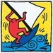 House Additions 'Untitled, 1987' by Haring Graphic Art Plaque