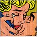 House Additions 'Kiss' by Lichtenstein Graphic Art Plaque