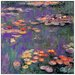 House Additions 'White Purple Water Lillies 9809' by Monet  Art Print Plaque
