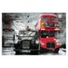 "House Additions ""Taxi and Bus"" by Yanaff Graphic Art Plaque"
