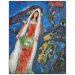 House Additions 'La Mariee,1950' by Chagall Art Print Plaque