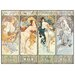 House Additions 'Les Saisons, 1897' by Mucha Art Print Plaque