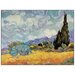 House Additions 'Cypress Trees' by Van Gogh Art Print Plaque
