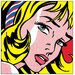 House Additions 'Girl with Hair Ribbon, 1965' by Lichtenstein Graphic Art Plaque
