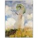 House Additions 'Lady with Umbrella' by Monet Art Print Plaque