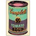 House Additions 'Campbell s Soup Can, 1965' by Warhol Vintage Advertisement Plaque in Beige