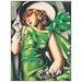 "House Additions ""Giovane Ragazza Al Vento"" by De Lempicka Art Print Plaque"