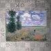 House Additions 'Les Coquelicots Environs D Argenteuil' by Monet Art Print Plaque