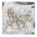 House Additions Butterfly Embossed Graphic Art on Canvas