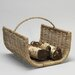 House Additions Wicker/Rattan Basket Log Rack