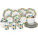 House Additions Porcelain 32 Piece Dinnerware Set