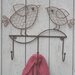 House Additions Rusty Iron Bird Wall Mounted Coat Rack