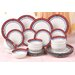 House Additions Nautical Stripes 24-Piece Dinnerware Set