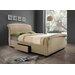 Home & Haus Sabik Upholstered Storage Sleigh Bed