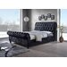 Home & Haus Lipsi Upholstered Sleigh Bed