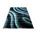 Home & Haus Zircon Black/Blue Area Rug