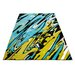 Home & Haus Amatrix Teal/Yellow Area Rug