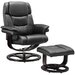 Home & Haus Round Recliner and Footstool