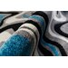 Home & Haus Amatrix Teal Area Rug
