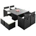 Home & Haus Cube Dining Table and 8 Chairs