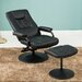 Home & Haus Nashville Swivel Recliner and Footstool