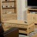 Home & Haus Alexander Coffee Table with Magazine Rack
